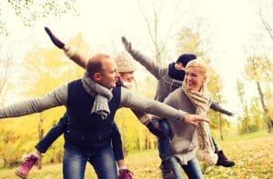 משפחה מאושרת בקנדה